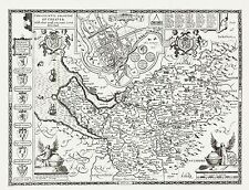CUMBERLAND County Map in 1610 by John Speed Uncoloured