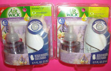 2 Air Wick Tranquility Motion Sensor Scented Oil Lavender and Vanilla refills