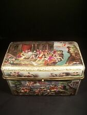 Monumental Antique Capo Di Monte Porcelain Hand Painted Box