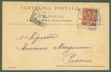 PERFIN. FRATELLI GONDRAND. Cart. commerciale del 1904 affr. cent. 10 Floreale