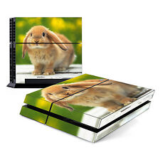Skin Decal Cover Sticker for Sony PlayStation 4 PS4 - Cute Rabbit Bunny