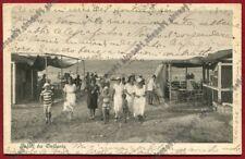 RIMINI BELLARIA IGEA MARINA 75 SPIAGGIA BAGNI Cartolina VIAGGIATA 1925