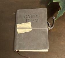 "Carpe Diem Suede Tie Journal Traveler's Notebook - Handmade In Italy 6x8"""