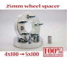 4x100 Convert 5x100 Spurverbreiterungen Adapter 25mm Wheel Spacer Studs 12x1.25