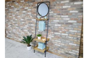 High Quality Bathroom Towel Rack with Mirror Bathroom Shelving Unit 5940s