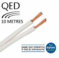 10m of QED 79 Strand White Oxygen Free Copper (OFC) HiFi Speaker Cable