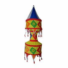 Pantalla lámpara Pagoda multicolor 75cm India patchwork iluminación