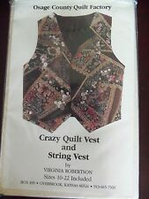 CRAZY QUILT VEST KIT - BY VIRGINIA ROBERTSON - BEAUTIFUL BUTTERFLY FABRIC