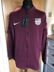 Nike F.C Barcelona Pre Match Anthem Jacket Dark Maroon Size XL