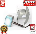 New LED Glowing And Sounding Thor Hammer  Helmet Cosplay Action Figures Kids