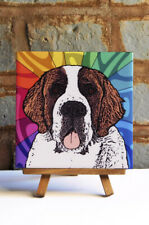 Saint Bernard Ceramic Coaster Tile