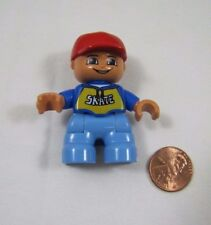 "LEGO DUPLO RED HAT SKATE BOY TODDLER 2"" FIGURE for FAMILY HOME HOUSE Rare"