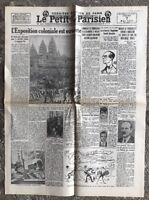N56 La Une Du Journal Le Petit Parisien 7 Mai 1931