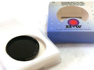 B+W Dark Red 20-40X 092 37mm filter boxed MINT- #83162
