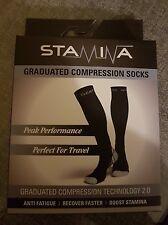 Compression Socks Graduated Support Men's Women's Running Socks L/XL  GREY