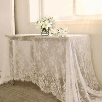 Couverture de table de dentelle florale blanche nappe blanche