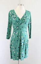 Boden Marion Green Polka Dot Jersey Knit Tunic / Mini Dress Size UK 8R US 4R 4