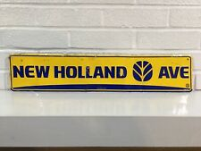 New Holland Agriculture Advertising Sign - Avenue Street Road Feed Seeds Tractor