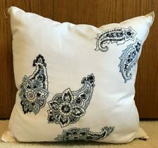Tommy Hilfiger Blue Paisley Decorative Square Pillow Bedding Nwt