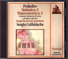 Sergiu CELIBIDACHE: PROKOFIEV Symphony No.5 Piano Concerto Sergio PERTICAROLI CD