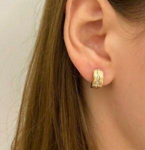 PARGOLD 585 Gold Ohrstecker Damen - 14 Karat Echt Gold Bicolor Ohrringe Damen