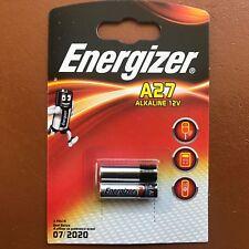 2 x Energizer A27 12 V Batería 27 A MN27 GP27A E27A EL812