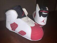 Baby Jordan 6 Retro Soft Bottom Crib Shoes 'Carmine' - Size 4C