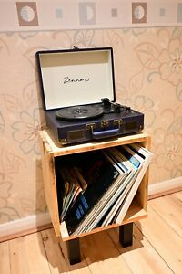 Rustic Industrial Pallet Wood Cabinet Vinyl Record Player Stand upcycled