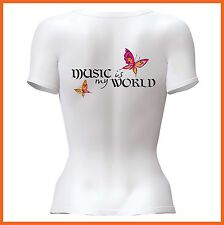 Music Is My World T-Shirt - Medium - NEW - Free Post - Great Gift Idea By Pholea