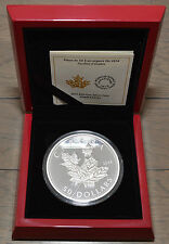 Canadian Coin 2014 - $50 Fine Silver 5oz - High Relief Coin Maple Leaves - RCM