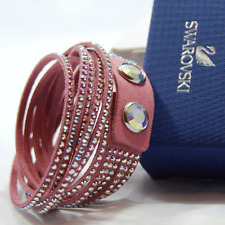 swarovski originale slake bracciale bracelet rosa cristalli doppio giro 5030100