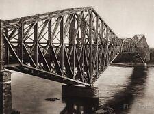 1925 Vintage CANADA ~ St. Lawrence River Bridge Quebec Architecture Photo Art