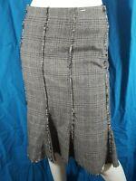 GERARD DAREL Taille 38 Superbe jupe doublée marron gris LAINE SOIE skirt