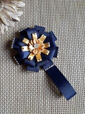 Stunning navy and gold  sweet magnetic  diamante bling pram charm