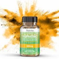 Turmeric (Curcumin) 500mg With Black Pepper (Bioperine) 120 Vegan Capsules