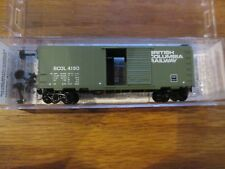 Micro Trains N Scale 20580 British Columbia 40' Standard Box Car # 4180