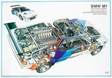 A3 BMW 320i Gruppe 5 Cutaway Drawing Wall Poster Art Picture Print