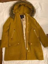 J Crew Yellow Wool coat Size 2