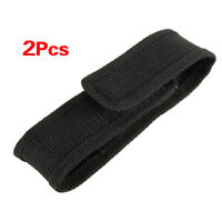 2pcs 13cm Black Nylon Holster Holder Belt Pouch Case Bag for LED Flashlight T PB