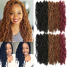 "18"" Curly Wave Goddess Faux Locs Nu Locks Crochet Twist Braiding Hair Extensions"