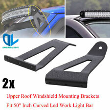 "Windshield Roof LED Work Light Bar Mounting Brackets For Ford  F150 Curved 50""IN"
