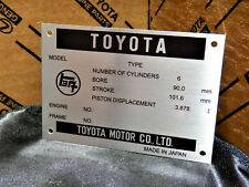 Reproduction Toyota Land Cruiser Engine DATA ID Plate Vin TAG FJ25 FJ40 FJ45