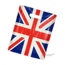 "200 Union Jack Plastic Carrier Bags 10""x12""+4"" Strong Patch Handle Gift Retail"