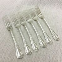 Antique Silver Plated Cutlery Large Table Forks Lily Pattern J Dixon Art Nouveau