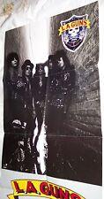 LA GUNS 1989 promo Concert Venue Poster!!! RARE