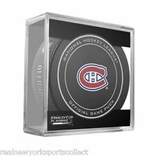 2015 MONTREAL CANADIENS STANLEY CUP PLAYOFFS OFFICIAL GAME PUCK