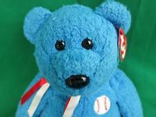 NEW BABY BOY BLUE FIRST BASEBALL GAME PLUSH TY TEDDY BEAR STUFFED ANIMAL ADDISON