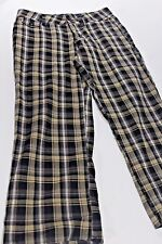 ONE TUFF BABE 3 4 Stretch COTTON BLACK & TAN PLAID Crop Capri Pants Free Ship