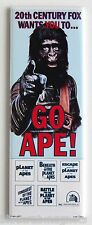 """Planet of the Apes """"Go Ape"""" FRIDGE MAGNET (1.5 x 4.5 inches) insert movie poster"""