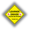 2 x Learner Driver Sticker Safety Warning Vinyl Self-Adhesive Vinyl Stickers